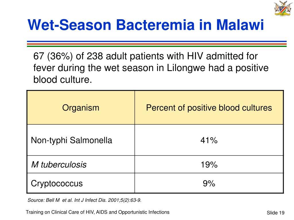 Wet-Season Bacteremia in Malawi