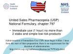 united sates pharmacopeia usp national formulary chapter 797