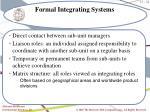 formal integrating systems