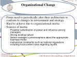 organizational change