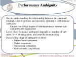 performance ambiguity
