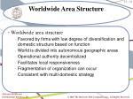 worldwide area structure