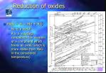 reduction of oxides