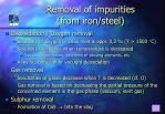 removal of impurities from iron steel19