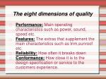 the eight dimensions of quality26