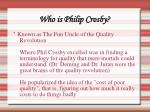 who is philip crosby