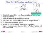 microfacet distribution function