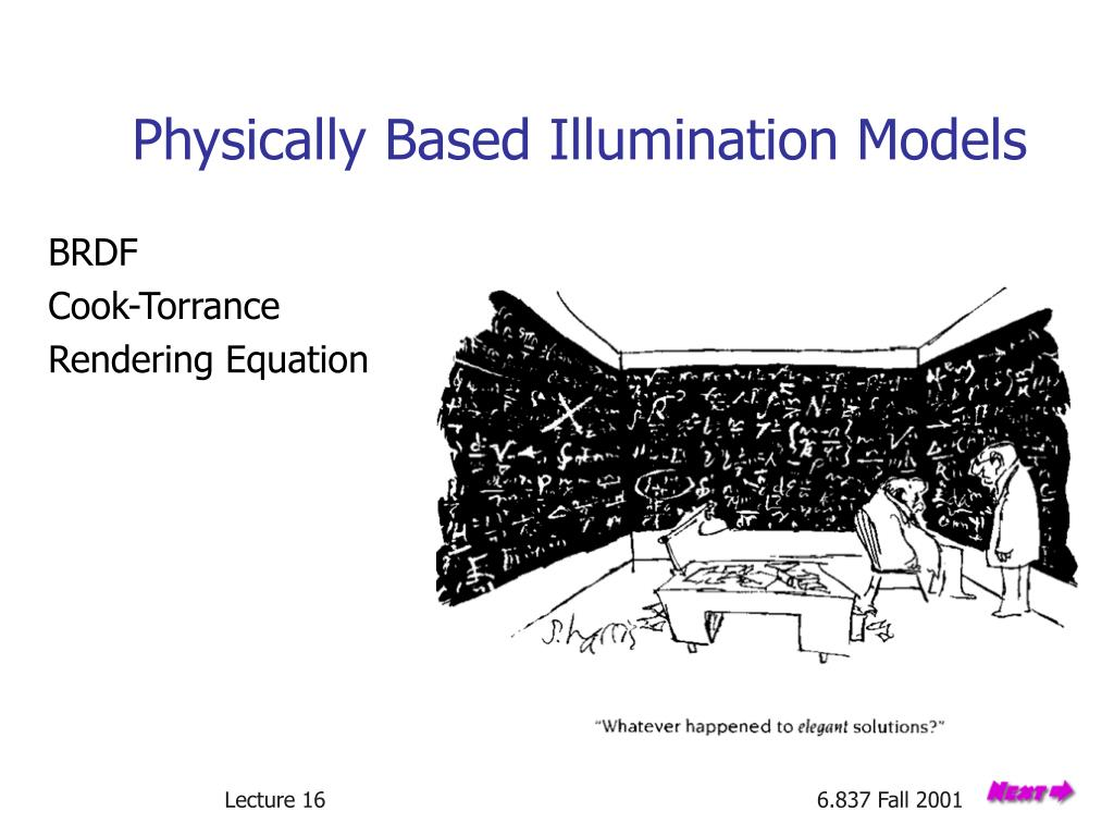physically based illumination models l.