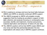 fundraising for pau request to unfpa