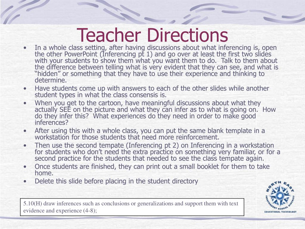 teacher directions l.