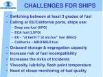 challenges for ships