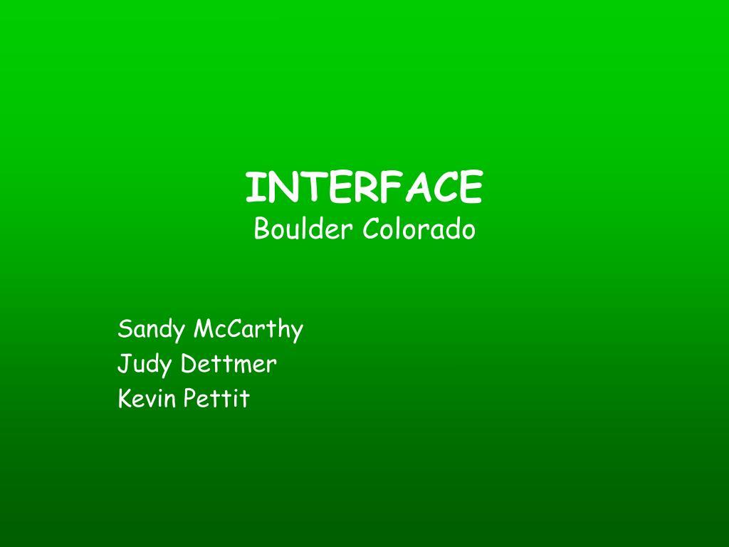 interface boulder colorado l.