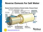 reverse osmosis for salt water