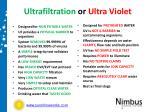 ultrafiltration or ultra violet