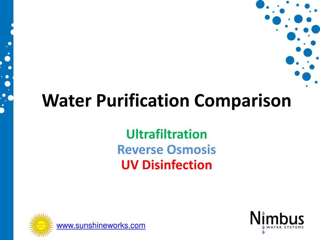 water purification comparison l.