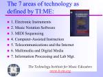 the 7 areas of technology as defined by ti me
