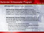 bartender ambassador program