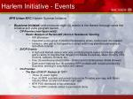 harlem initiative events