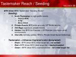 tastemaker reach seeding