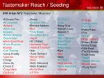 tastemaker reach seeding26