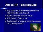 ars in hk background