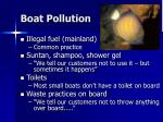 boat pollution
