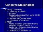 concerns stakeholder