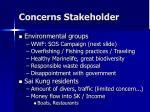 concerns stakeholder17