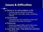 issues difficulties