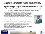 epson s corporate vision and strategy