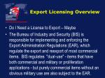 export licensing overview