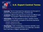 u s export control terms