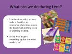 what can we do during lent