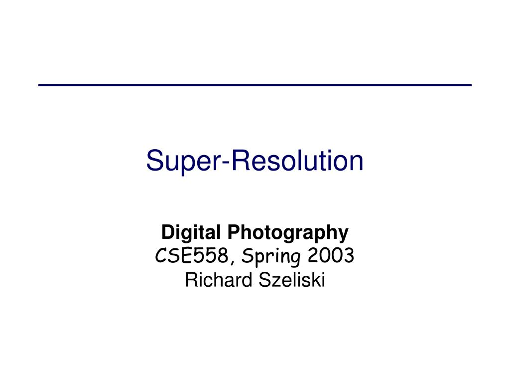 super resolution l.
