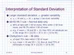 interpretation of standard deviation
