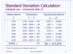 standard deviation calculation metabolic sav introduced slide 15