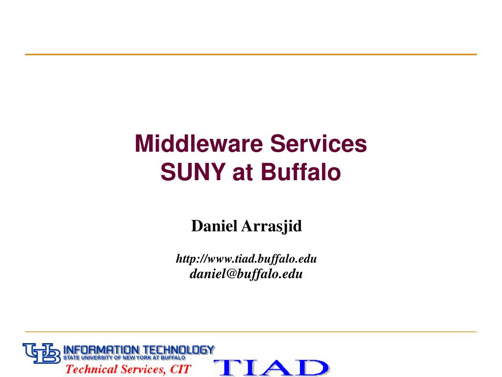 middleware services suny at buffalo l.