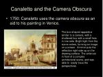 canaletto and the camera obscura