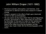 john william draper 1811 1882
