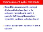 indonesian earthquake risk model