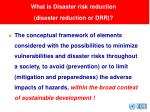 what is disaster risk reduction disaster reduction or drr