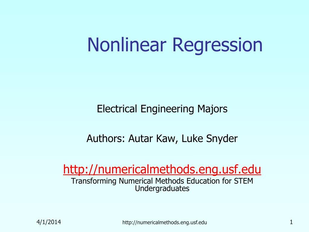 nonlinear regression l.