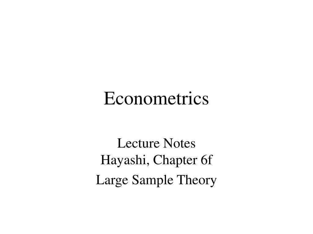 econometrics l.
