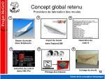 concept global retenu proc dure de fabrication des moules