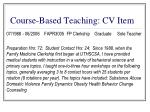 course based teaching cv item