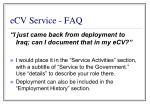 ecv service faq85