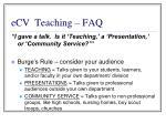 ecv teaching faq