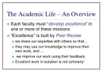 the academic life an overview5