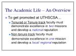 the academic life an overview7