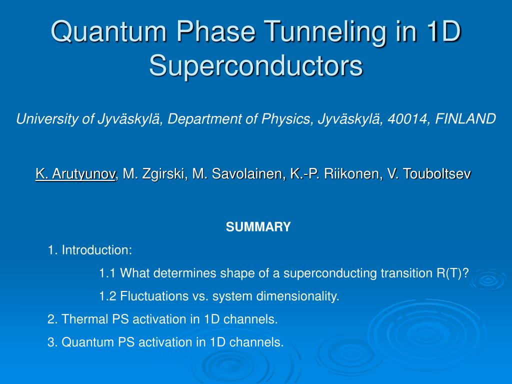 quantum phase tunneling in 1d superconductors l.